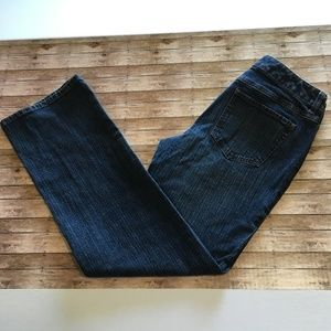 Ann Taylor LOFT dark blue bootcut jeans sz 6 EUC